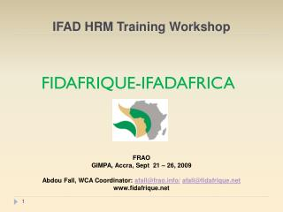 IFAD HRM Training Workshop