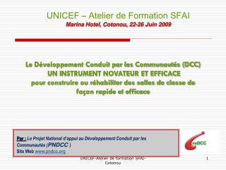 Le Développement Conduit par les Communautés (DCC)  UN INSTRUMENT NOVATEUR ET EFFICACE