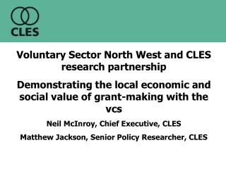 Voluntary Sector North West and CLES research partnership