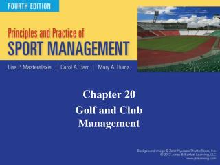 Chapter 20 Golf and Club Management
