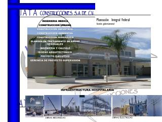 INGENIERIA MEDICA CONSTRUCCION URBANA CONSTRUCCION INDUSTRIAL CONSTRUCCION AMBIENTAL