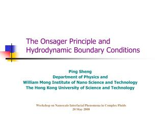 The Onsager Principle and Hydrodynamic Boundary Conditions