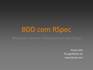 BDD com RSpec