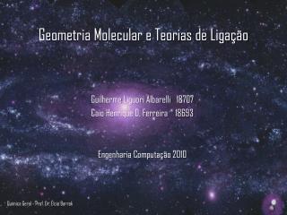 Qu mica Geral - Prof. Dr.  lcio Barrak