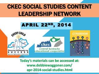 CKEC Social Studies Content Leadership Network