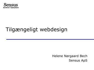 Tilgængeligt webdesign