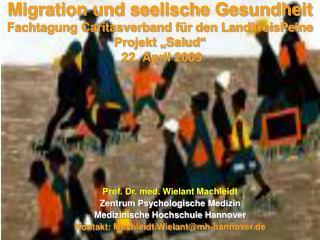 Migration und seelische Gesundheit Fachtagung Caritasverband f r den LandkreisPeine  Projekt  Salud   22. April 2009