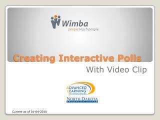 Creating Interactive Polls