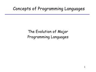 The Evolution of Major Programming Languages
