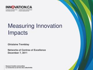 Measuring Innovation  Impacts