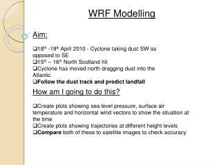 WRF Modelling