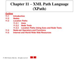 Chapter 11  –  XML Path Language (XPath)