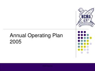 Annual Operating Plan 2005