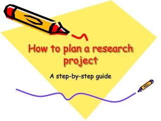 How to plan a research project