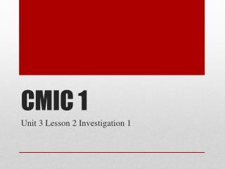 CMIC 1