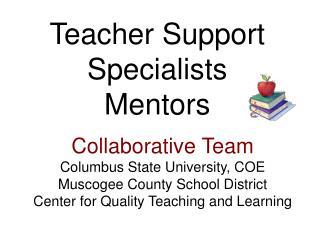 Teacher Support Specialists Mentors