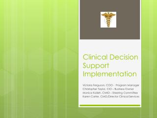 Clinical Decision Support  Implementation