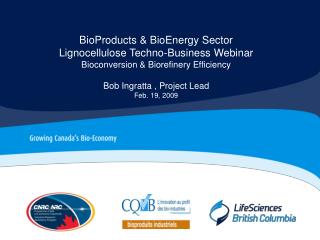 BioProducts & BioEnergy Sector Lignocellulose Techno-Business Webinar