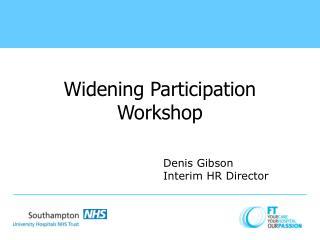 Widening Participation Workshop