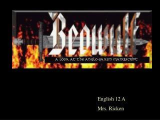 English 12 A Mrs. Ricken