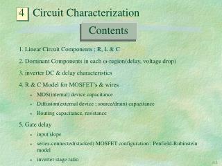 4   Circuit Characterization