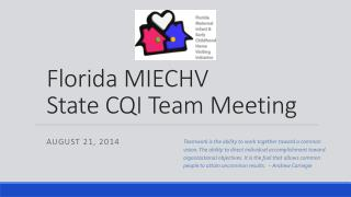 Florida MIECHV State CQI Team Meeting