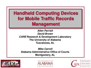 Handheld Computing Devices for Mobile Traffic Records Management