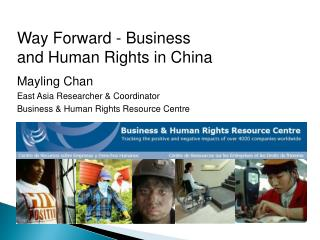 Way Forward - Business and Human Rights in China