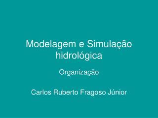 Modelagem e Simula��o hidrol�gica