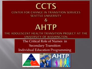 The Critical Role of Nurses  in  Secondary Transition  Individual Education Programming