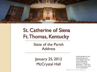 St. Catherine of Siena Ft. Thomas, Kentucky