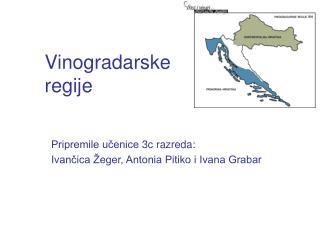 Vinogradarske  regije
