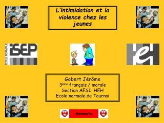 L'intimidation et la violence chez les jeunes