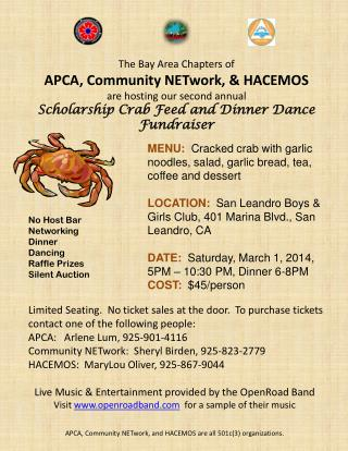 The Bay Area Chapters of APCA, Community NETwork, & HACEMOS are hosting our second annual