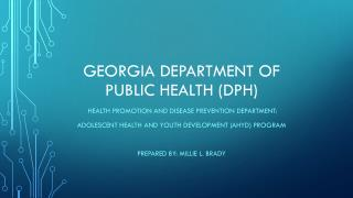 Georgia Department of public health (DPH)