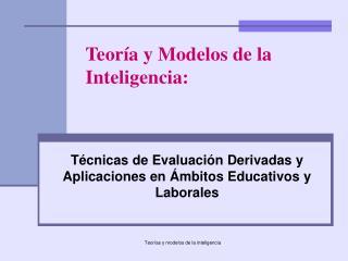 Técnicas de Evaluación Derivadas y Aplicaciones en Ámbitos Educativos y Laborales