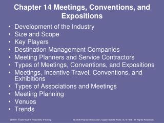 Chapter 14 Meetings, Conventions, and Expositions