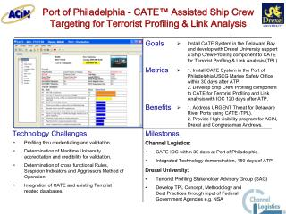 Port of Philadelphia - CATE™ Assisted Ship Crew Targeting for Terrorist Profiling & Link Analysis