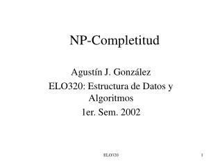 NP-Completitud
