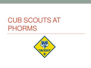 Cub  Scouts  at Phorms