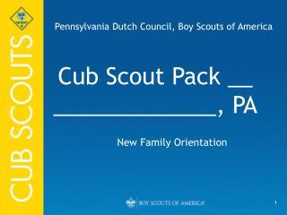 Cub Scout Pack __ _____________, PA