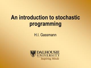 An introduction to stochastic programming