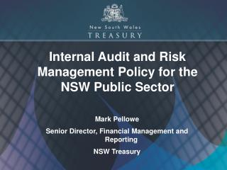 Internal Audit and Risk Management Policy for the NSW Public Sector