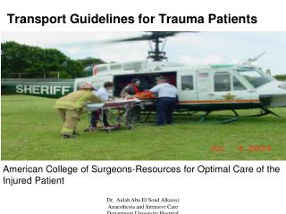 Transport Guidelines for Trauma Patients