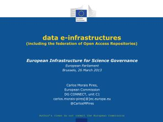 data e-infrastructures (including the federation of Open Access Repositories)
