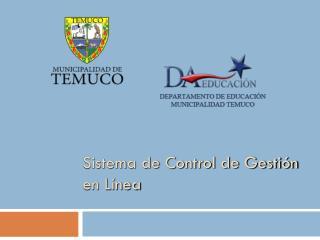 Sistema de Control de Gestión en Línea