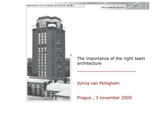 The importance of the right team architecture _________________ Sylvia van Peteghem