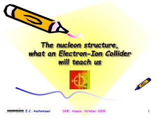 The nucleon structure,  what an Electron-Ion Collider  will teach us