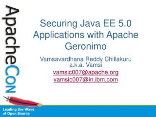 Securing Java EE 5.0 Applications with Apache Geronimo