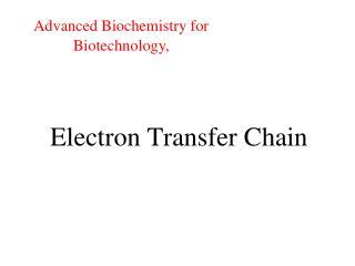 Electron Transfer Chain